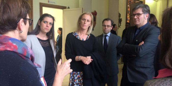Avec Segolène Neuville, Secrétaire d'Etat chargée de la lutte contre l'exclusion, à l'IRTS de Montrouge