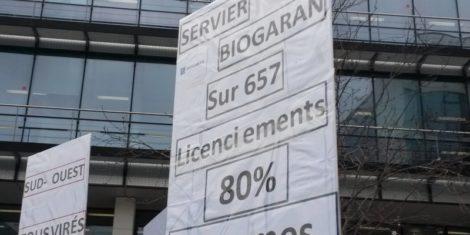Read more about the article Avec les salariés de Servier à Suresnes