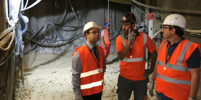 Visite du chantier Metro Ligne 4