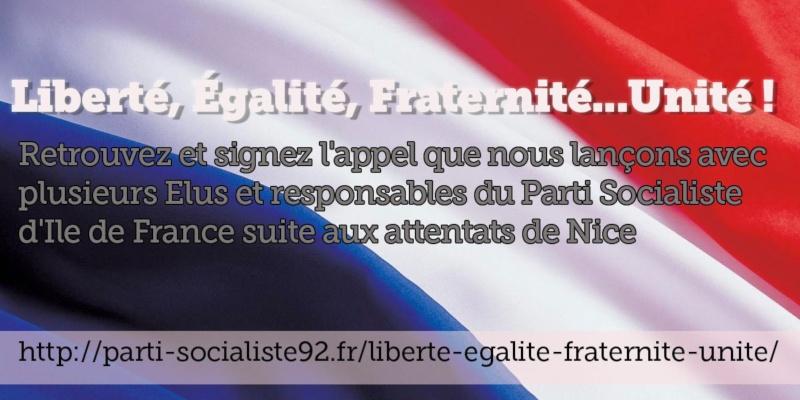 Liberté, Égalité, Fraternité…Unité !