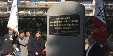 Dévoilement d'une stèle en Hommage aux Victimes de la Shoah