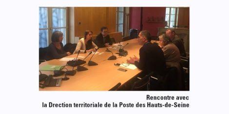 Read more about the article Rencontre avec la direction territoriale de la Poste des Hauts-de-Seine
