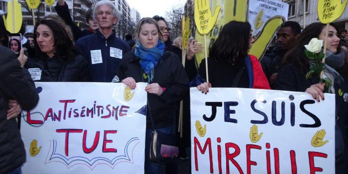 Marche blanche contre l'antisémitisme à Paris