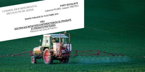 Read more about the article Pour le soutien aux initiatives d'interdiction du glyphosate et produits pesticides
