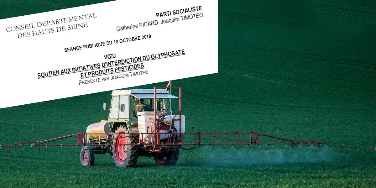 Pour le soutien aux initiatives d'interdiction du glyphosate et produits pesticides