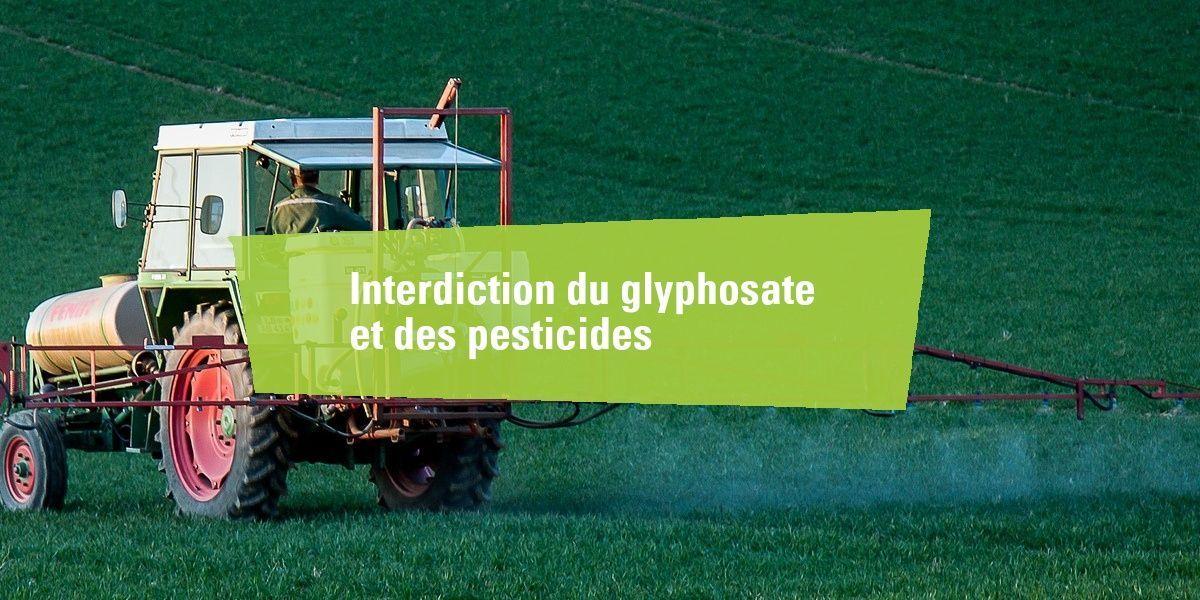 Interdiction du glyphosate et des pesticides