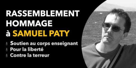 Rassemblement en hommage à Samuel Paty