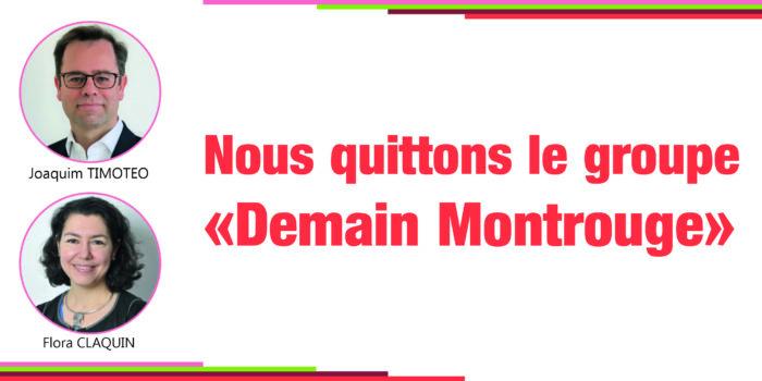 Départ du groupe «Demain Montrouge»