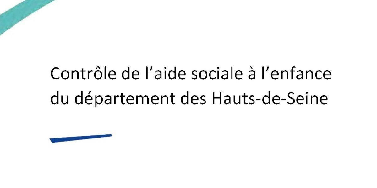 You are currently viewing Rapport IGAS : Contrôle de l'aide sociale à l'enfance du département des Hauts-de-Seine