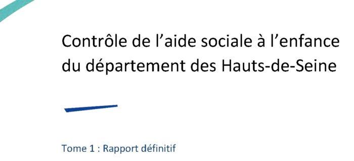 Rapport IGAS : Contrôle de l'aide sociale à l'enfance du département des Hauts-de-Seine