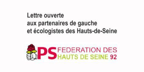 Appel aux partenaires de gauche et écologistes des Hauts-de-Seine