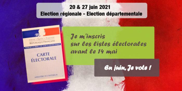 Inscription sur les listes électorales – C'est avant le 14 mai