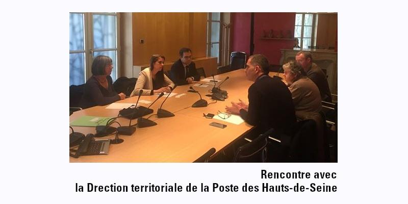 Rencontre avec la direction territoriale de la Poste des Hauts-de-Seine