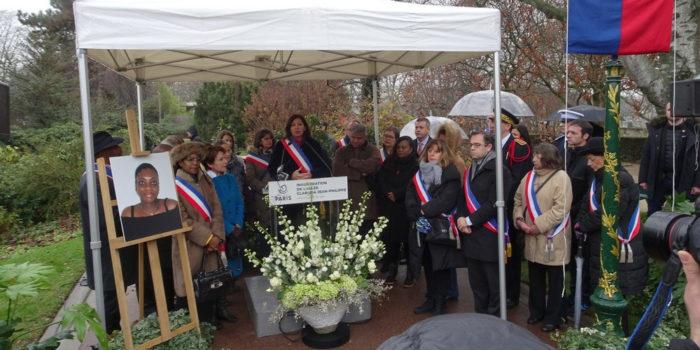 Inauguration de l'allée Clarissa Jean-Philippe, Square du Serment de Koufra