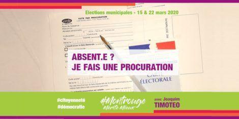 Je ne peux pas aller voter le 15 mars et / ou le 22 mars, je fais une procuration